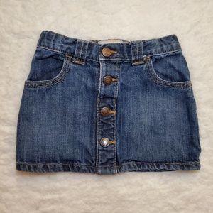 💖4/$20💖 Old Navy Girl's Denim Skirt 3T